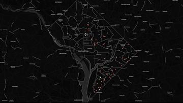 MAP: 2019 Washington DC Homicides