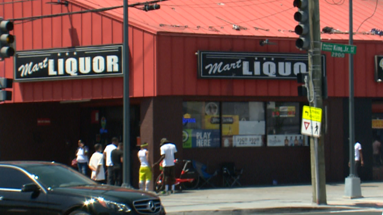Members of a Southeast  community are protesting the renewal of this liquor store's license