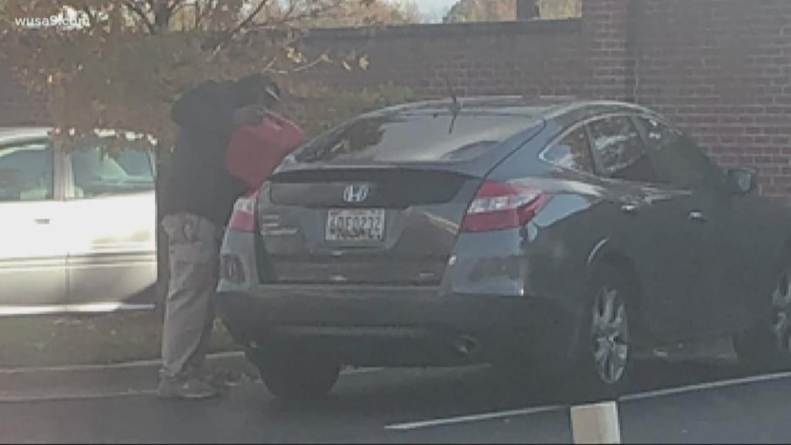 Man makes gas stop at Chick Fil A