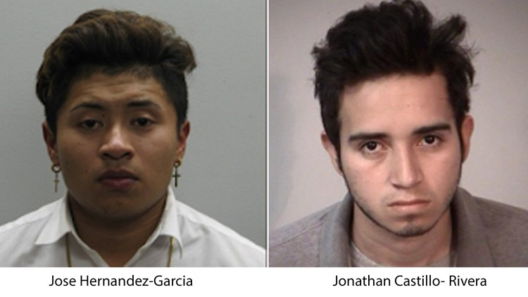Suspects Jose Hernandez-Garcia and Jonathan Castillo- Rivera