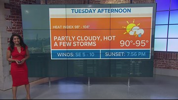 Hot Tuesday with a chance for strong to severe storms