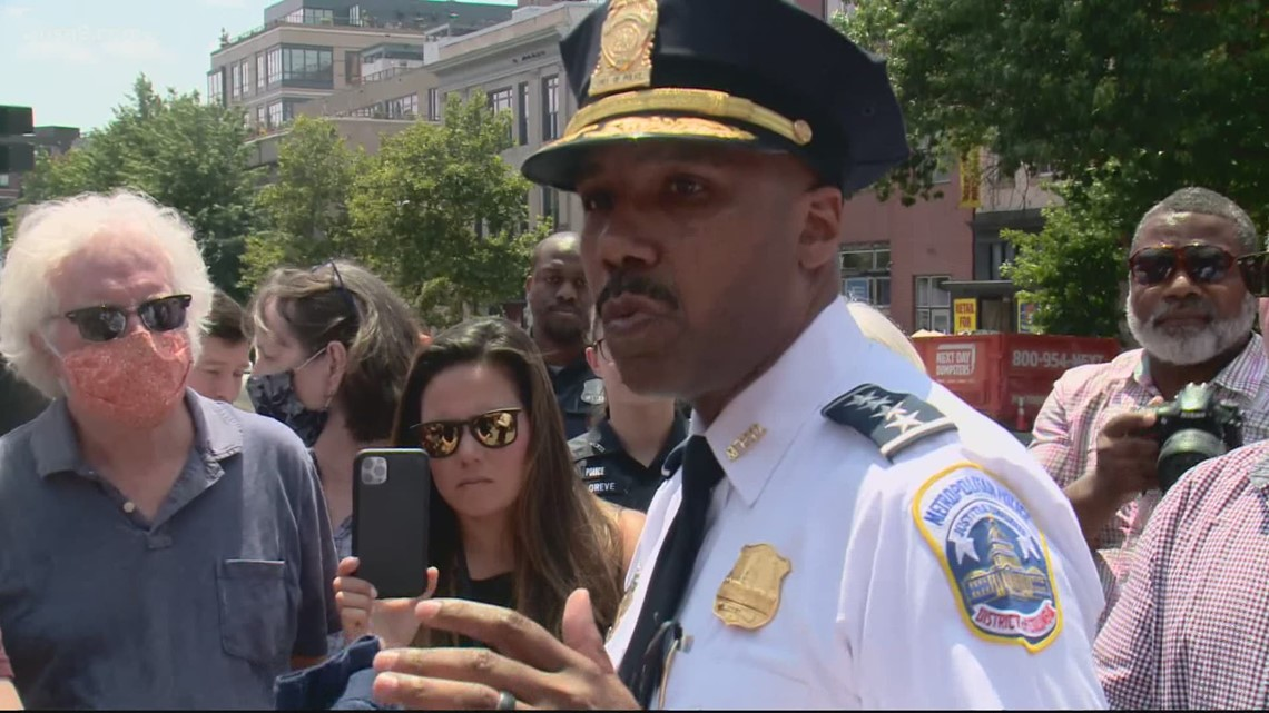 Strong reactions from DC Police Chief Robert Contee about 14th Street shootings