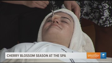 Shed those winter layers and refresh your skin with a cherry blossom inspired spa day
