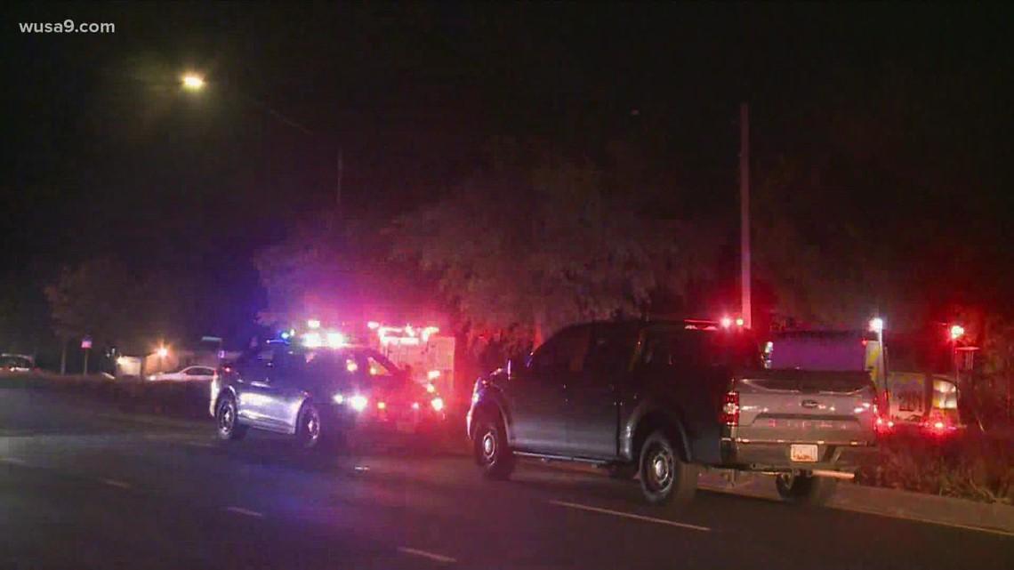 Firefighters battle blaze in Lanham