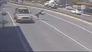Maryland man convicted after being hit by car moments after committing a bus robbery