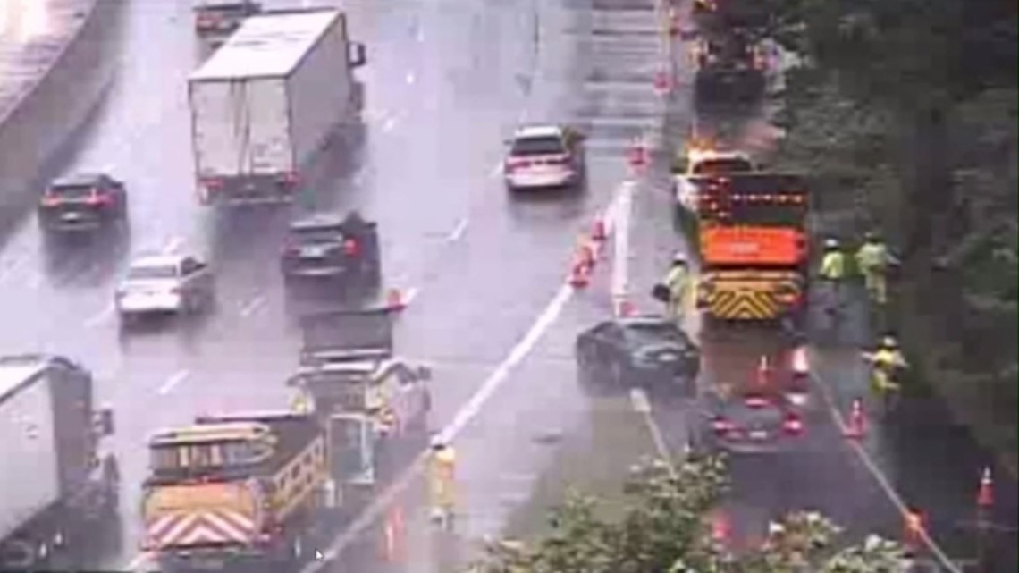 All lanes reopen on northbound I-495 after tree falls on car | wusa9 com