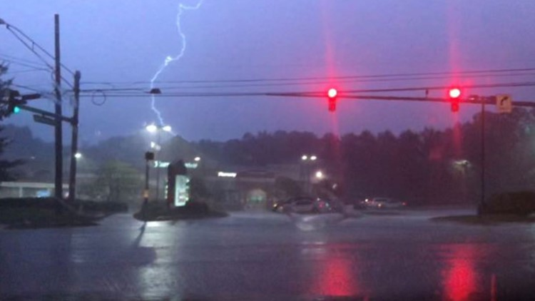 Severe storms brought downed trees, heavy rain and power outages to the DMV
