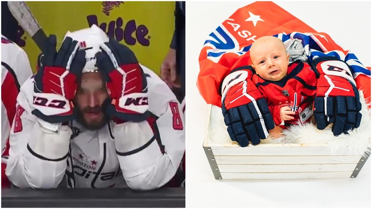 Ovie vs. baby benched -- Washington Capitals recreate iconic moments in #ChampionshipBabies photos