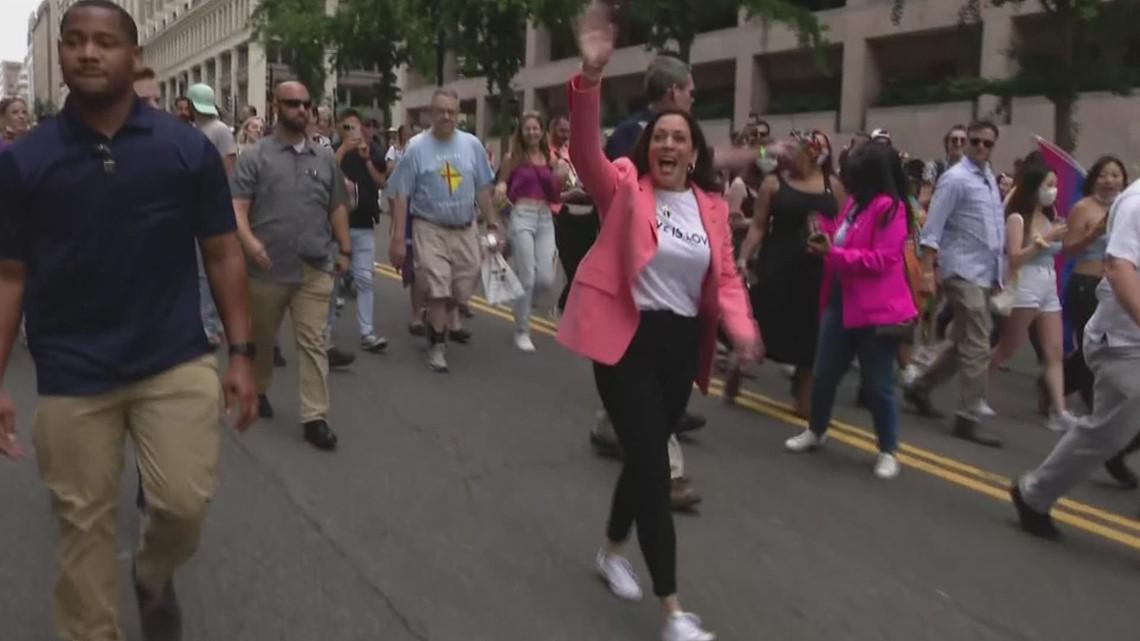 Vice President Kamala Harris attends DC Pride parade on Saturday