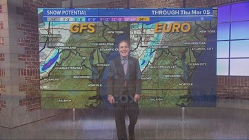 Late afternoon rain or snow possible Friday
