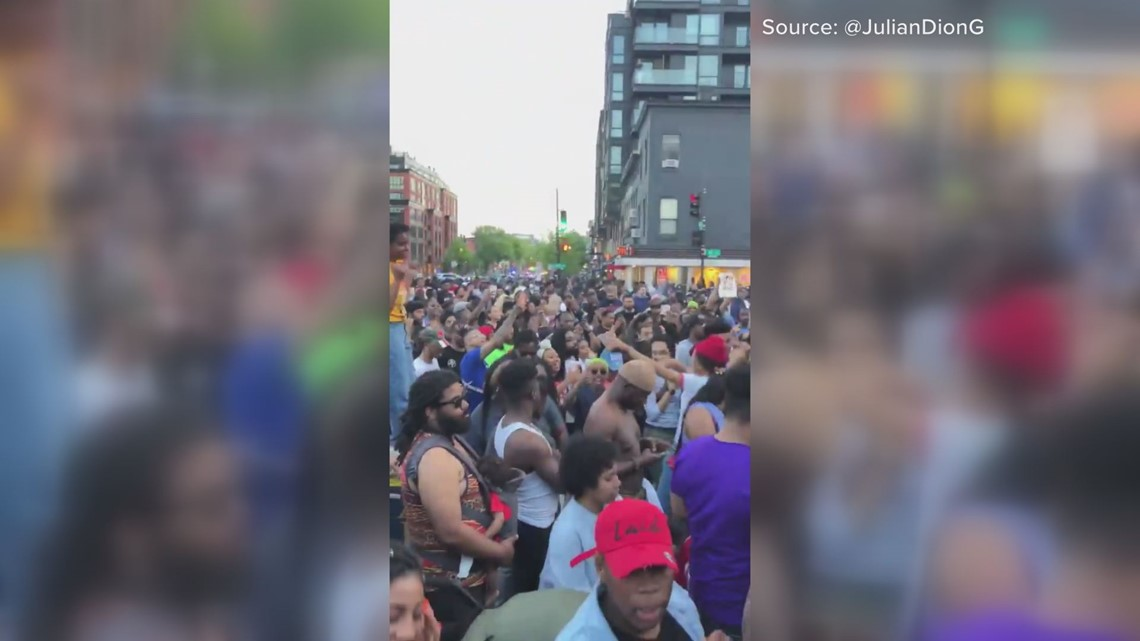 Hundreds flood DC streets playing, dancing to go-go music   #DONTMUTEDC