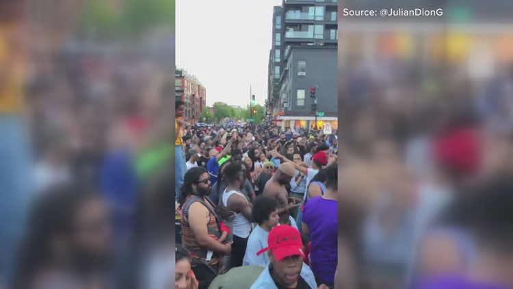 Hundreds flood DC streets playing, dancing to go-go music | #DONTMUTEDC