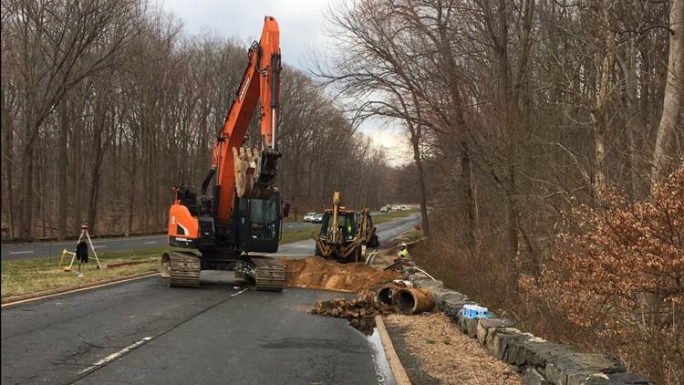 GW Parkway closures potholes