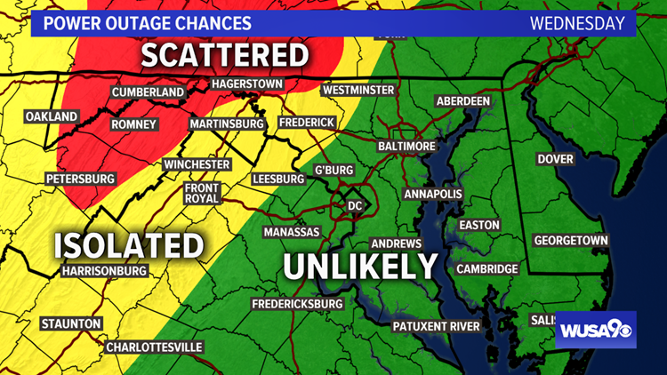 power outage chances