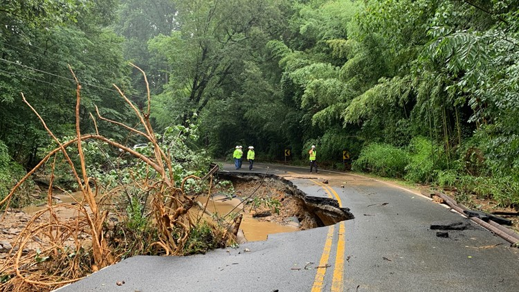 Kirby Road washed away