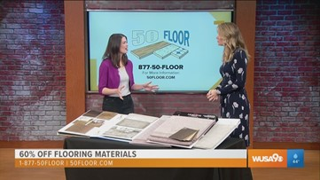 Get 60% off new flooring this holiday season with 50 Floor