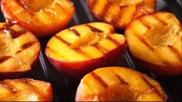 Delicious grilled peach tart recipe