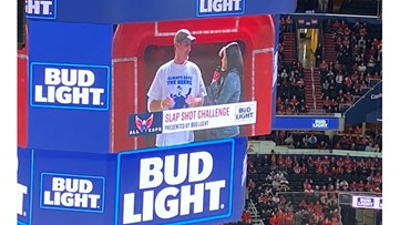 'Bud Light Guy' Jeff Adams just went to the Caps game and won a year's worth of free beer