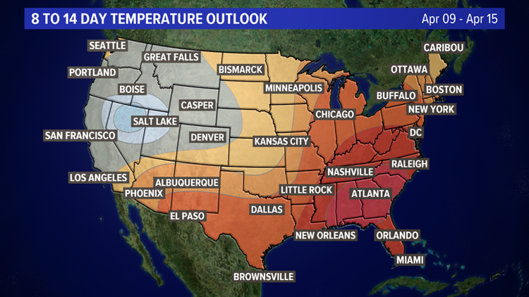 8 to 14 Day Temperature Outlook