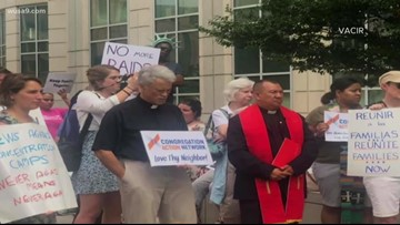 Activists protest ICE, detention centers outside ICE headquarters