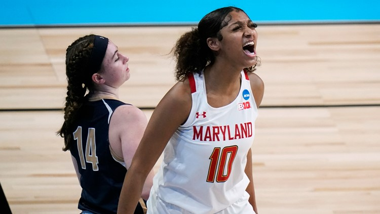 Maryland women race past in-state rival Mount St. Mary's 98-45 in NCAA tournament first round