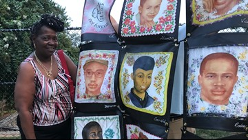 'Faces not forgotten' | Mom creates quilt to honor murdered children