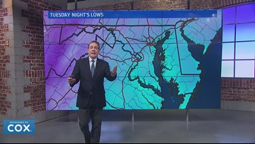 Temperatures tumble into the 10s and 20s across the DMV