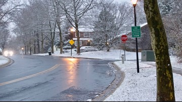Second snowfall of 2020 causes slippery conditions in parts of the DMV