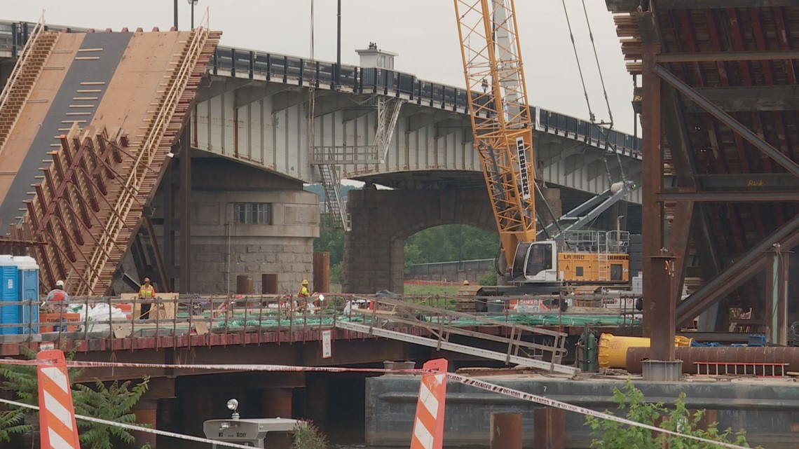 Work remains 'on-schedule' to complete new Frederick Douglass bridge across the Anacostia River