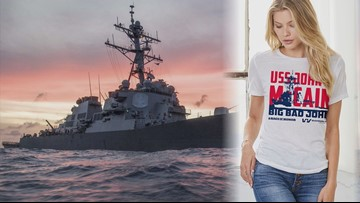 Trolling the president? USS John McCain shirts to be given away on Fourth of July