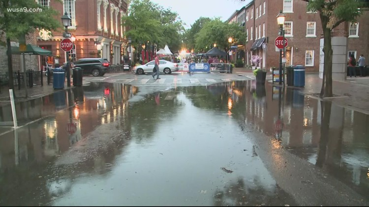 Storms flood Alexandria, Fairfax County for second time this week