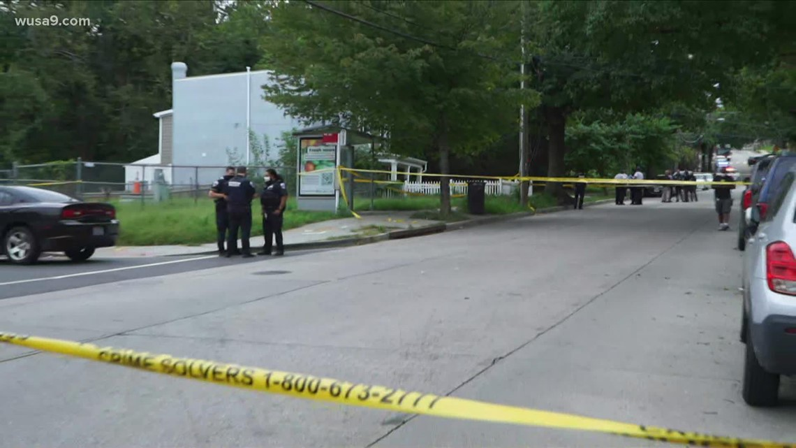 8-year-old grazed and man shot in SE DC