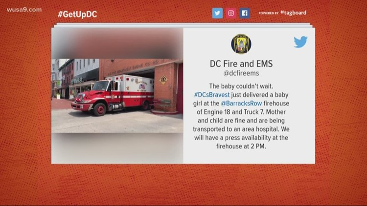 The baby couldn't wait! DC firefighters deliver baby girl