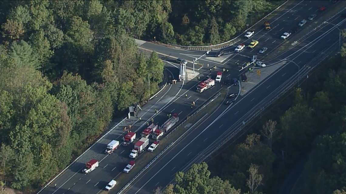 Watch Live: Route 29 shut down after gravel truck overturns