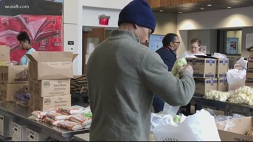 Martha's Table is doing its part to help out by giving out some groceries