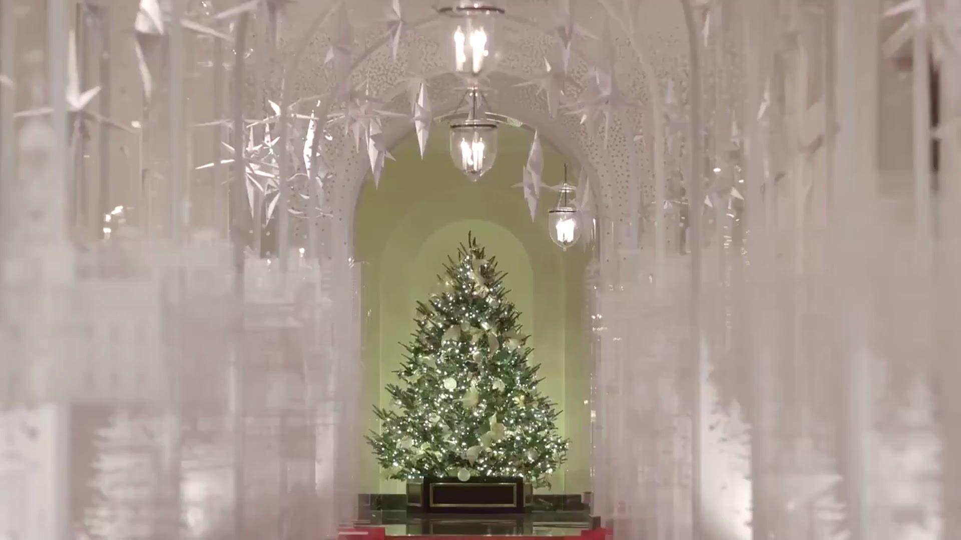 First Lady Melania Trump Reveals White House Christmas Decorations Wusa9 Com