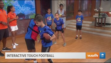 New interactive touch football tech adds safety for kids