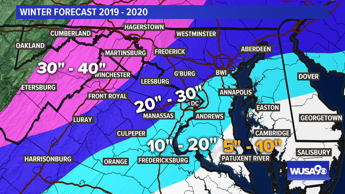 snow accumulation map maryland Dc Winter Weather Forecast Here S How Much Snow To Expect Wusa9 Com snow accumulation map maryland