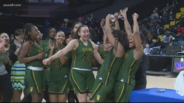 Woodbridge Vikings win first title in girls' basketball