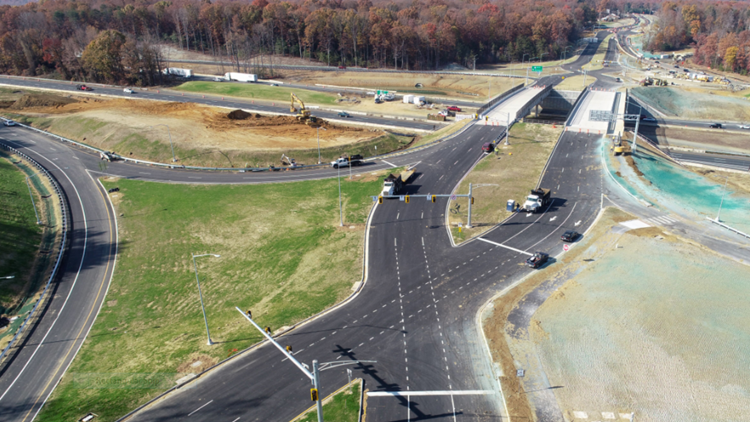 New traffic pattern in Stafford County will have you driving on the 'wrong' side of the road