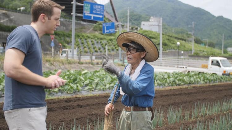 Valerio in Yamanashi Onion Farm