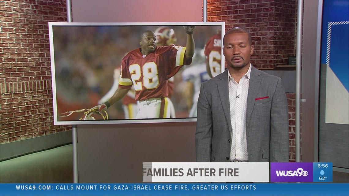 WFT legend Darrell Green helps families affected by apartment fire