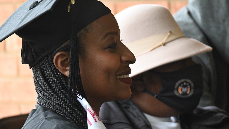 Separated by COVID restrictions for more than a year, mom and daughter reunite just in time for graduation