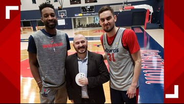 WUSA 9 employee wows Wizards with magic
