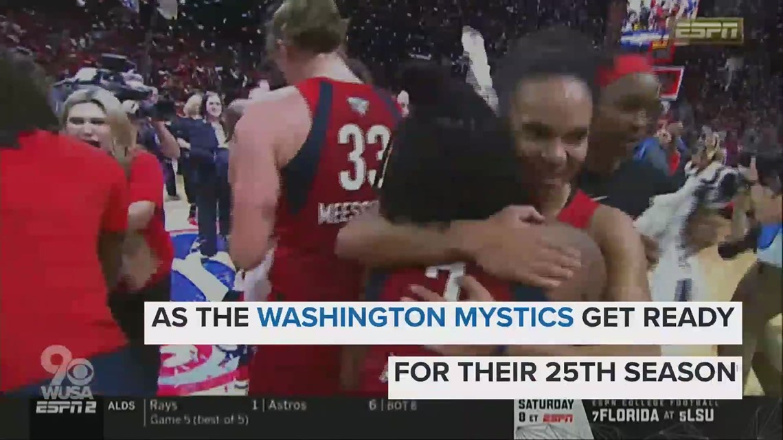 Washington Mystics basketball team has a new look. Check out the uniform
