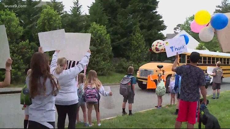 Community celebrates retiring Virginia bus driver | Get Uplifted