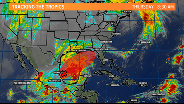 Tropical system heading to Gulf States