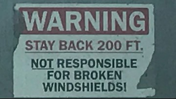 VERIFY: Do 'not responsible for broken windshields' signs have any legal effect?