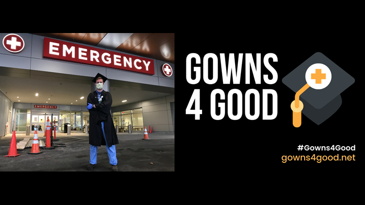 Gotta a graduation gown? Donate it and help a healthcare worker