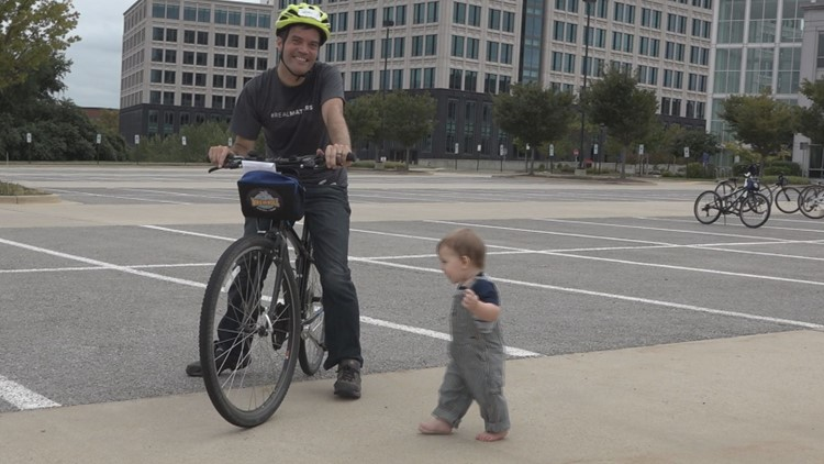 Learning how to ride a bike... at 38